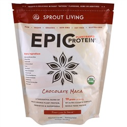 Sprout Living, Органический протеин Epic Protein, шоколад мака, 1 кг (1000 г)