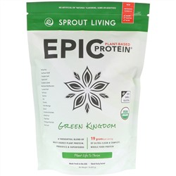 Sprout Living, Epic Plant-Based Protein, Green Kingdom, 1 lb (455 g)