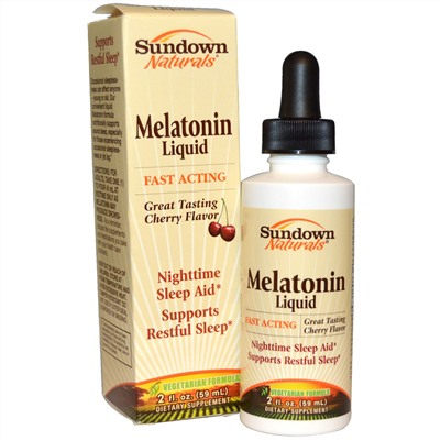 Sundown Naturals, Liquid Melatonin, Cherry Flavored, 2 fl oz (59 ml)