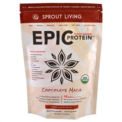 Sprout Living, Протеин Epic Protein, шоколад мака, 1 фунт (454 г)